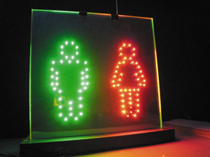 Functional Sign Board LED Glass