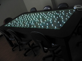 LED Glowing Glass For Table Top