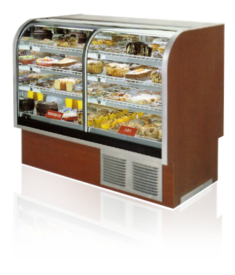 Antibacterial Glass Cabinet of Food and Beverage Showcase