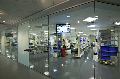 Antimicrobial Glass Partitions of Laboratory