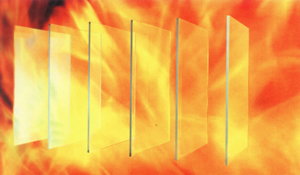 Monolithic Single Layer Fire Resistant Glass