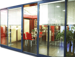 Interior Blind of Glass Partition Protects Privacy at Shops Resturant whenever Necessary