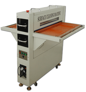 Glass Surface Dust Removing & Cleaning Machine with Anti-Static Devices & Adhesive Rollers