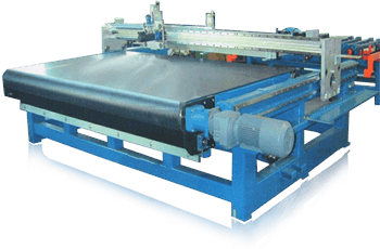 Series Automatic Glass Cutting Machines with Whole Width Conveyor Belt Brings Glass in & out of Cutting Machines