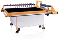 XY Multiple Heads Glass Straight Cutting Tables for Medium Glass Sizes