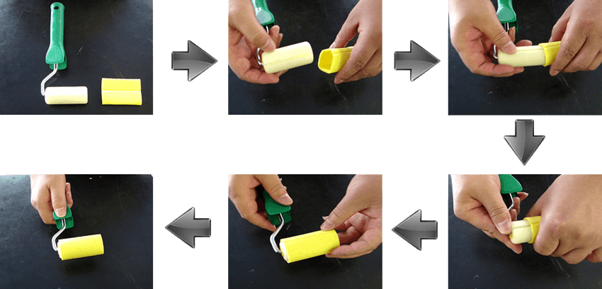 IG Sealant Corner Scraping Sponge Fits into Roller Easily But Anti-Slip During Rolling on Sealant