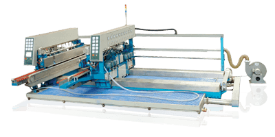 G-HDE Horizontal Glass Double Edging Machines Edge & Polish Two Parallel Glass Edges At One Pass