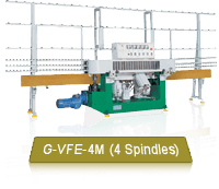 G-VFE-4M Budget 4 Spindles Glass Flat Edgers Suitable For Small & Medium Glass Shops