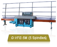 G-VFE-5M Mini Glass Flat Edging Machine Carries Up To 250 kg Glass Loading