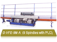 G-VFE-9M-A Automatic 9 Spindles PLC Glass Edging Machine