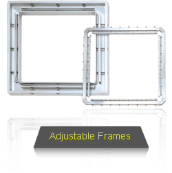 Adjustable Frames Allows Re-arranging of Position When Part of Stencil Is Required To Be Regulated